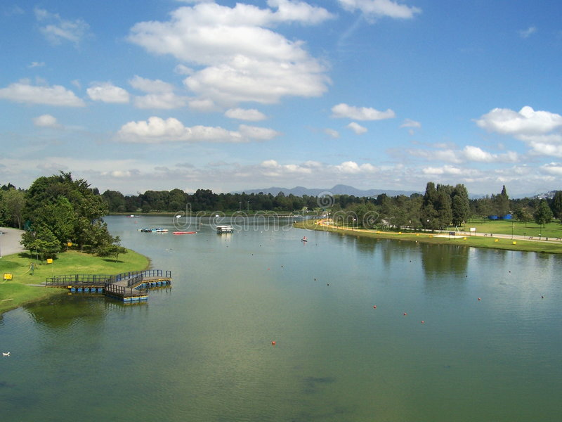 Simon Bolivar Park Stock Photo Image Of Lake Colombia 4538692
