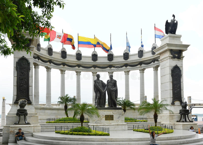 Simon Bolivar San Martin Statue royalty free stock photo