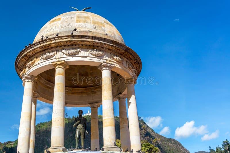 Simon Bolivar Statue in Bogota lizenzfreie stockfotografie