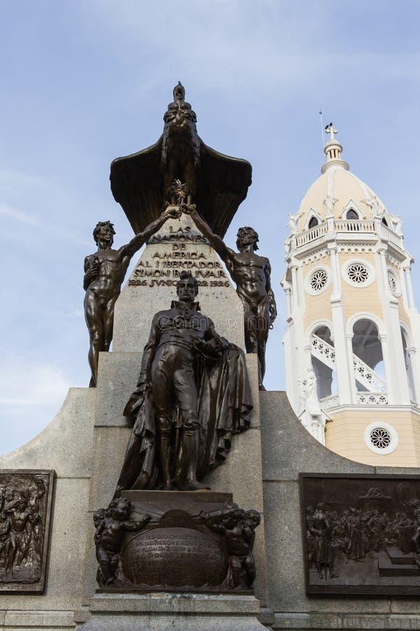 Simon Bolivar Statue royalty free stock image