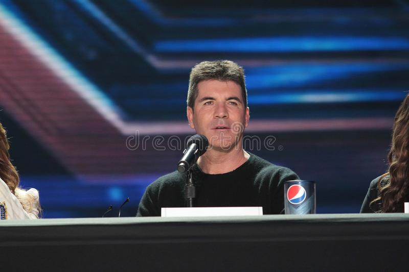 Simon Cowell. At The X Factor Press Conference, CBS Televison City, Los Angeles, CA 12-19-11 royalty free stock photography