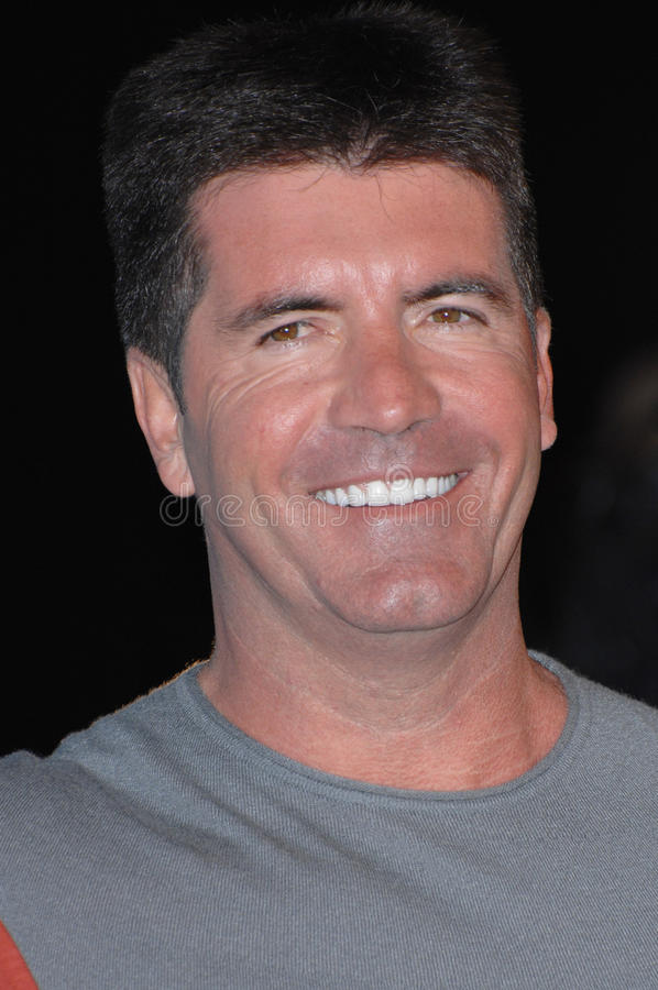 Simon Cowell. At a party at the Pacific Design Centre to celebrate the Top 12 Finalists of this year's American Idol. March 9, 2007 Los Angeles, CA Picture royalty free stock image