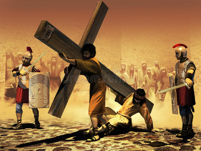 Post van het Kruis royalty-vrije illustratie