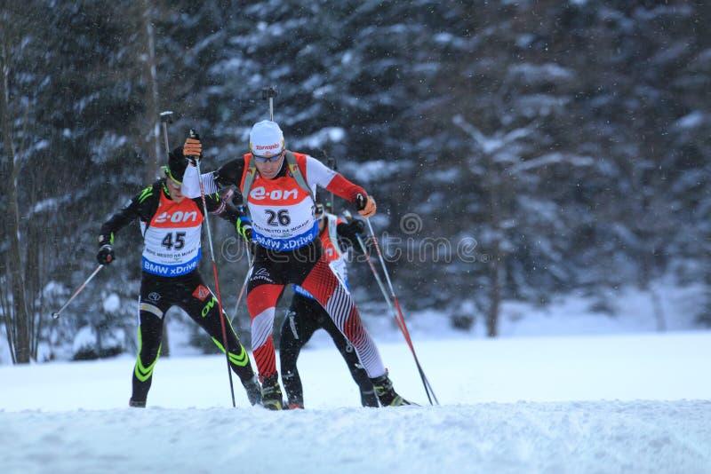 Simon Eder - biathlon fotografering för bildbyråer