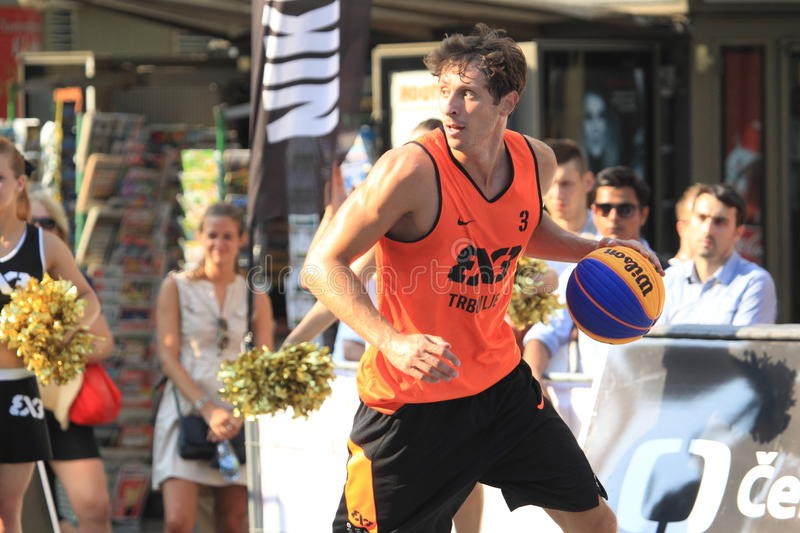 Simon Finzgar - basket-ball 3x3 image stock