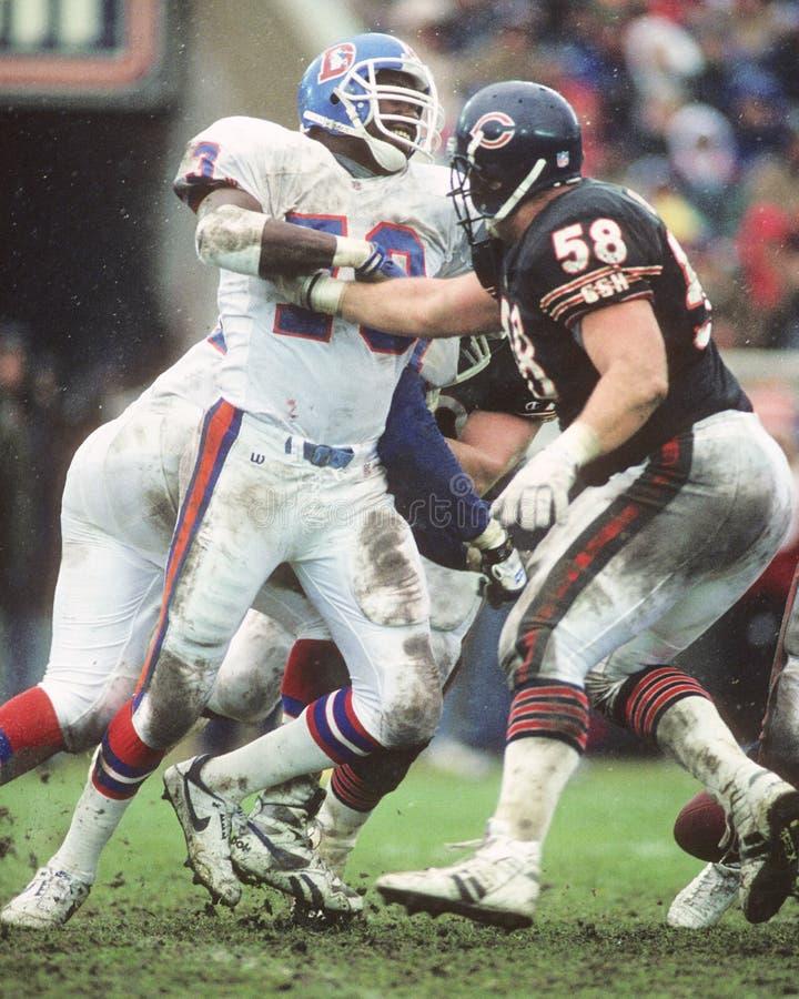 Simon Fletcher. Denver Broncos OL Simon Fletcher. ( Image taken from color slide stock photography