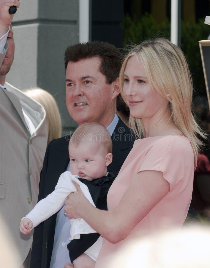 Simon Fuller Hollywood Walk van de Ceremonie van de Ster van de Bekendheid royalty-vrije stock foto