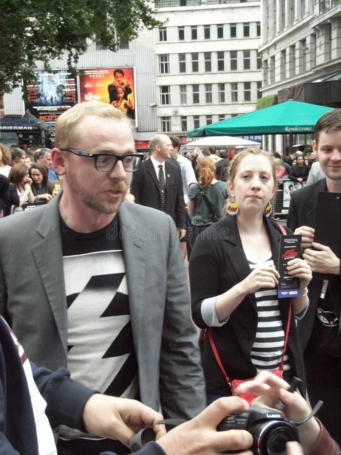 Simon Pegg en el peregrino de Scott contra el mundo foto de archivo libre de regalías