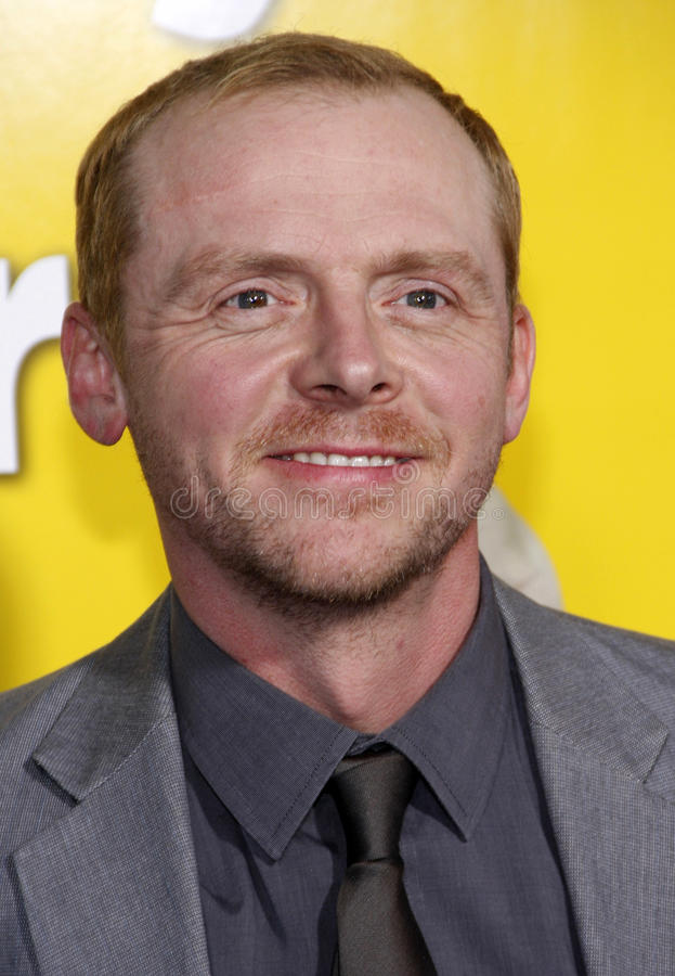 Simon Pegg. At the Los Angeles Premiere of 'Paul' held at the Grauman's Chinese Theater in Hollywood, USA on March 14, 2011 royalty free stock photos