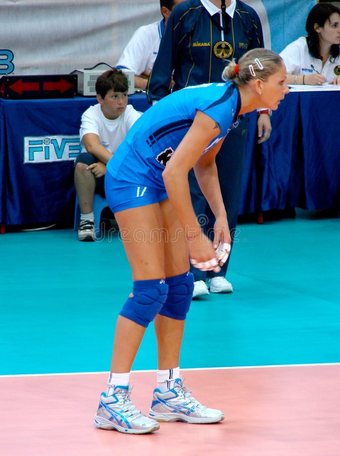 Simona Gioli, Italian volleyball team royalty free stock photos