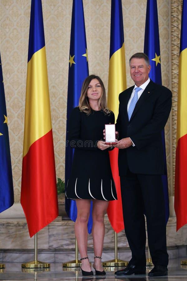 Simona Halep και Klaus Iohannis στοκ εικόνα με δικαίωμα ελεύθερης χρήσης
