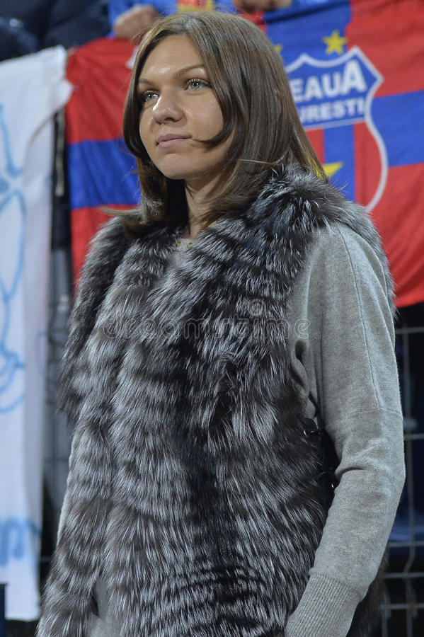 Simona Halep royalty-vrije stock afbeelding