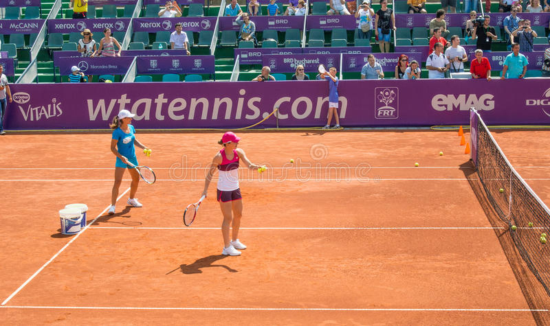 Simona Halep BRD OPEN WTA royalty free stock photography