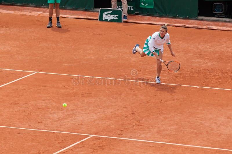Simona Halep em Roland Garros foto de stock
