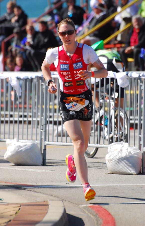Simone Braendli - Ironman triathlete royalty free stock images