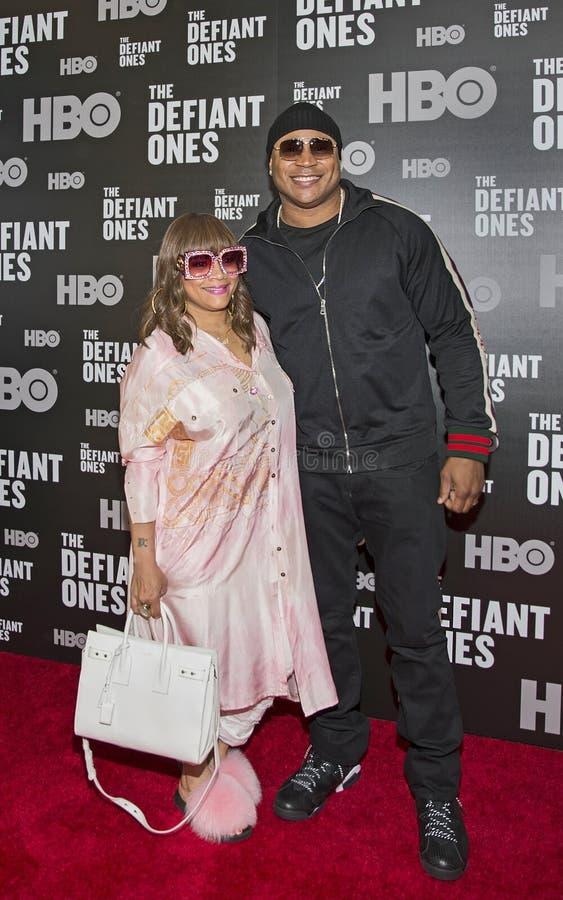 Simone Smith i LL Cool J zdjęcia royalty free
