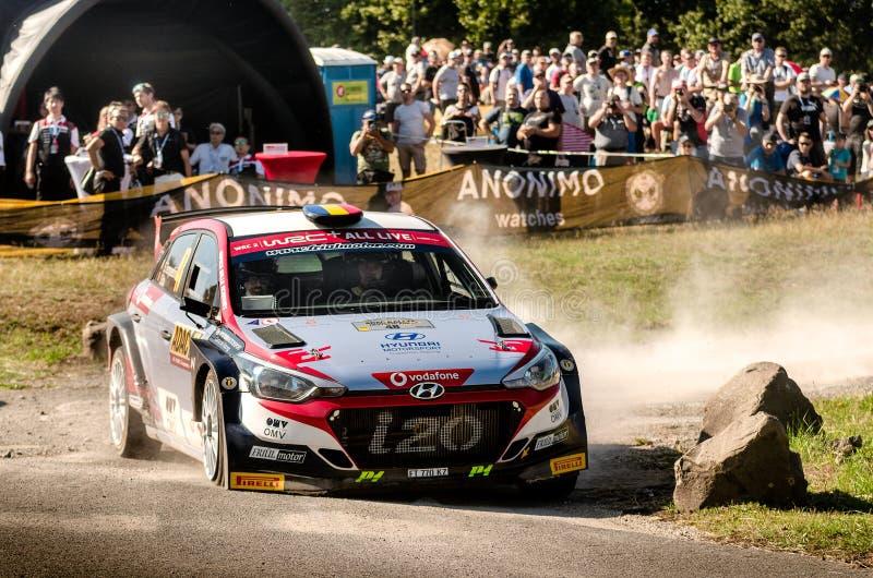Simone Tempestini and Sergiu Itu at ADAC Rally Germany stock photo