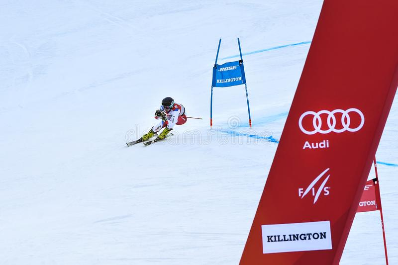 Simone Wild von SUI konkurriert im ersten Lauf des Riesenslaloms stockfoto