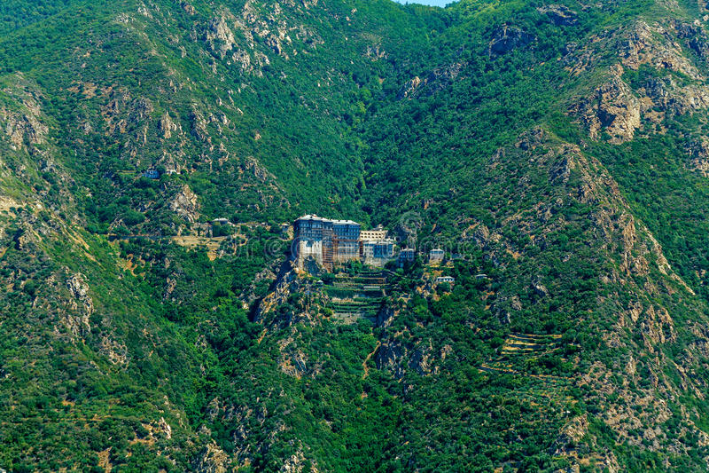 Simonopetra Monastery, Mount Athos royalty free stock image