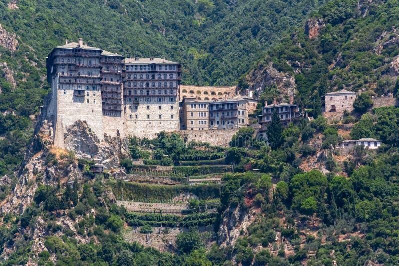 Simonopetra Simonos Petra Monastery in Athos, Chalkidiki, Greece royalty free stock photography