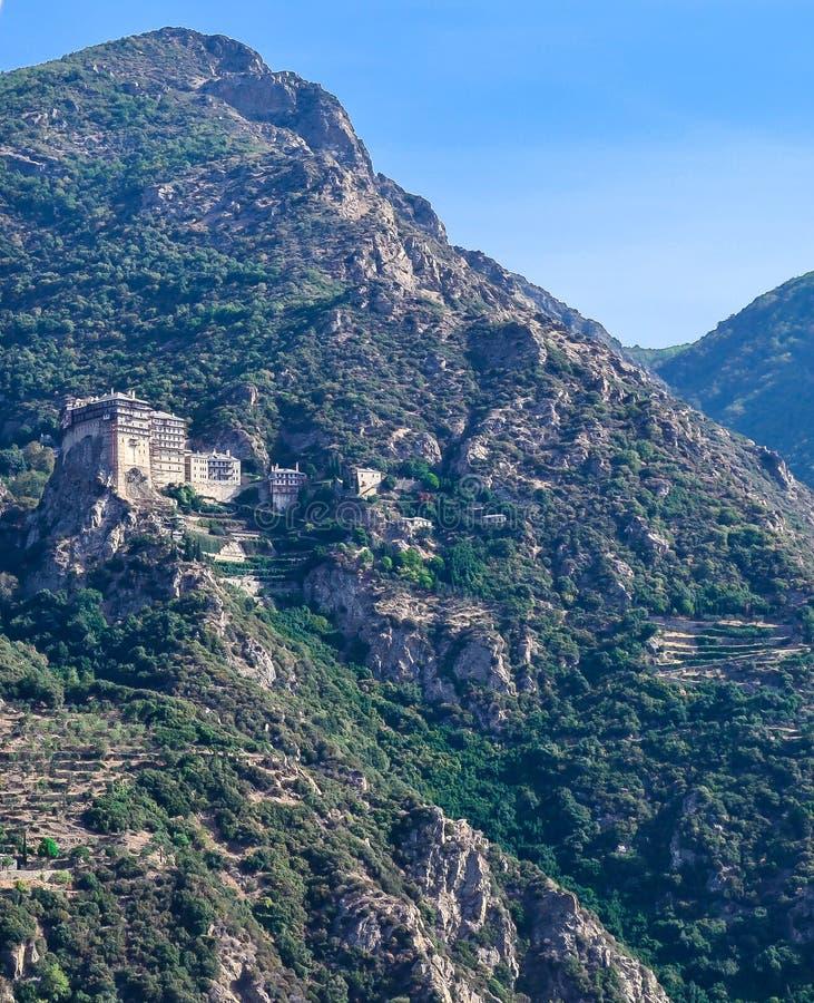 Simonos Petras Monastery, Mount Athos, Greece stock image