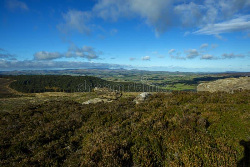 Simonside Hills Rothbury Northumberland stock photo