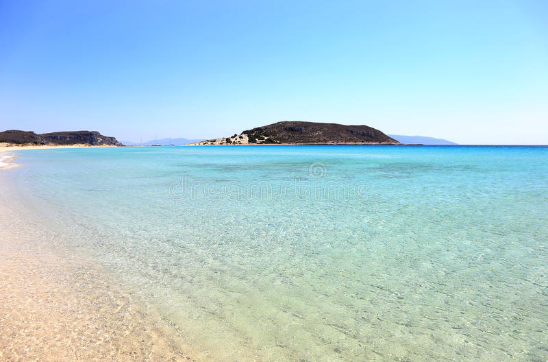 Simos beach Elafonisos Greece royalty free stock image