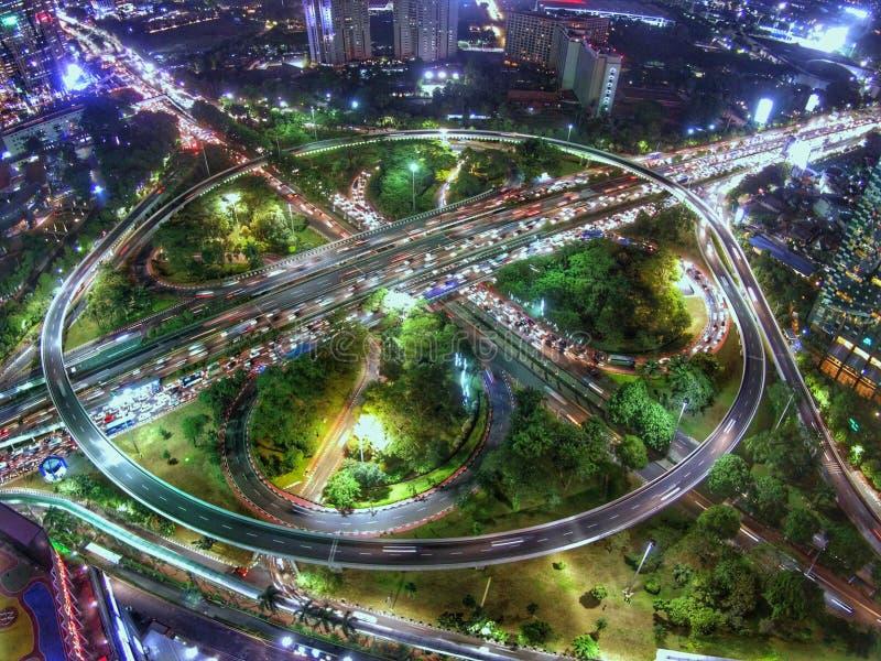 Simpang Susun Semanggi & x28; intersection& x29; 免版税库存图片