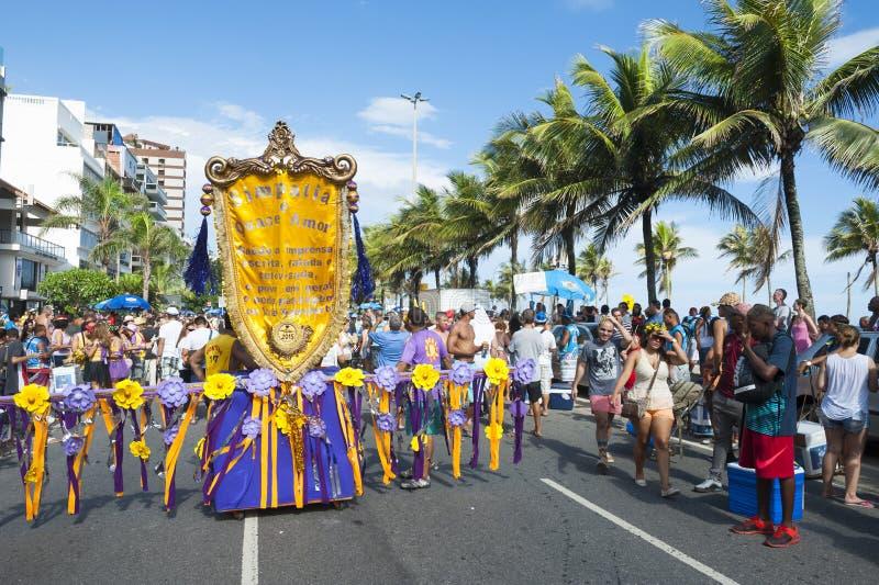 Simpatia e Quasi Amor Carnival Street Party Rio de Janeiro Brazil stock photos