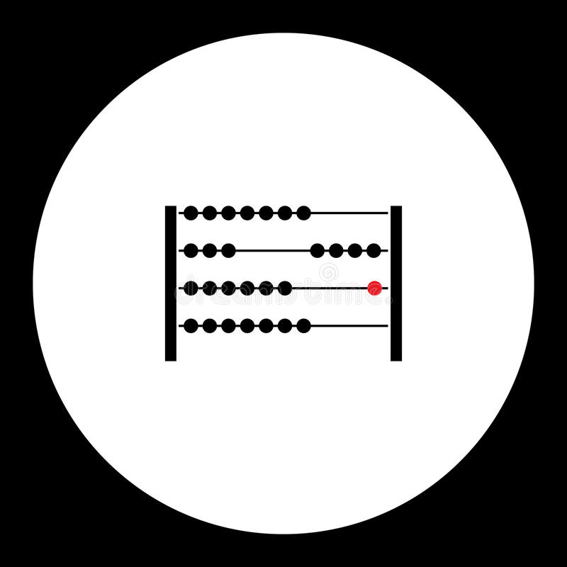Simple abacus for computing black icon stock illustration