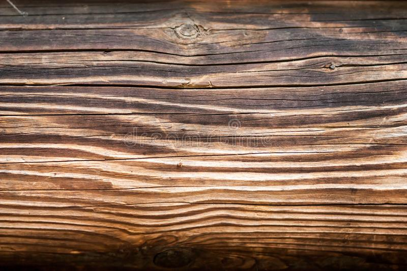 Simple abstract background of shabby wooden surface light brown. Color with patterns of natural lines stock photography