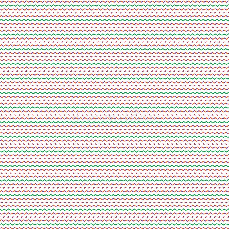 Simple Abstract Colorful Stripe Scribble Line Fabric Pattern Illustration Seamless royalty free illustration