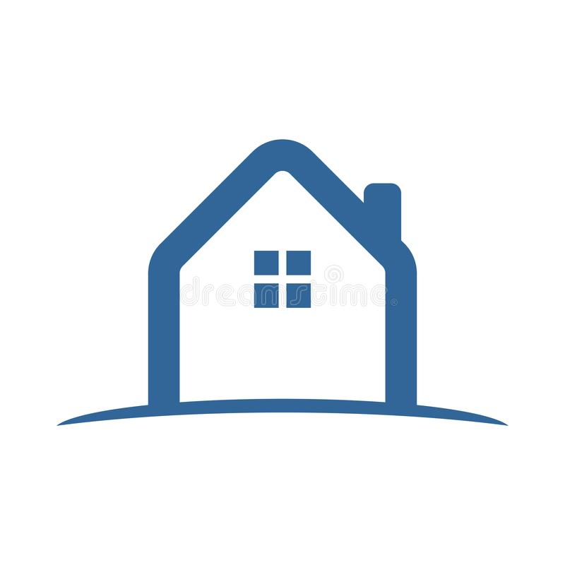 Simple Abstract House Land Icon stock illustration