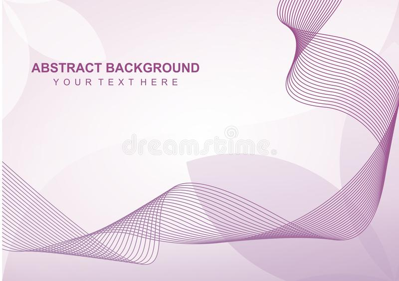 Simple Abstract line Background stock illustration