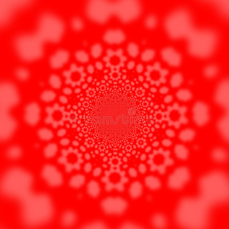 Simple abstract red background. Square shape template. Kaleidoscope design. Stock raster illustration, texture, color, pattern, bright, colorful, wallpaper stock illustration