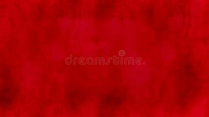 Abstract red watercolor background illustration. Simple abstract red color watercolor background illustration with visible pattern royalty free illustration