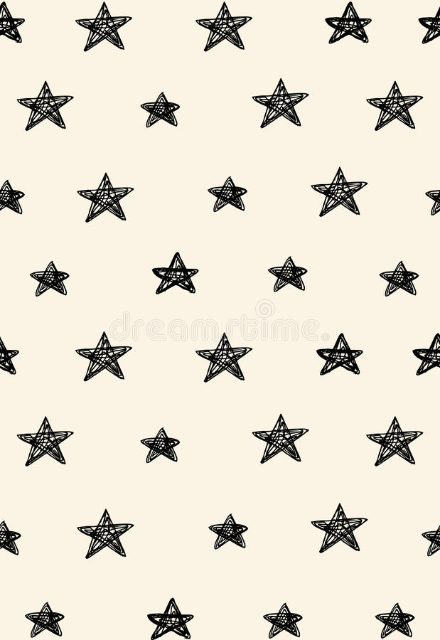 Simple abstract seamless pattern with stars royalty free illustration