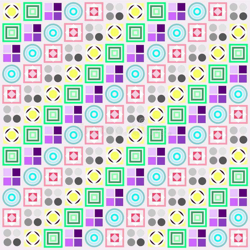 Simple abstractly geometric colorful background, raster bitmap stock illustration