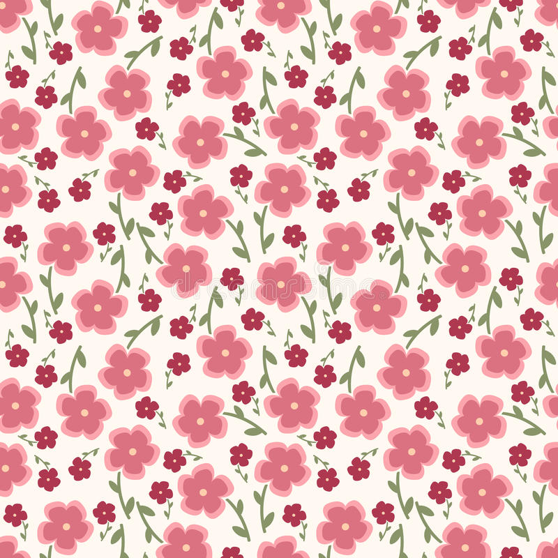 Free Simple And Beauty Flower Seamless Pattern. Vector Royalty Free Stock Photo - 60052575
