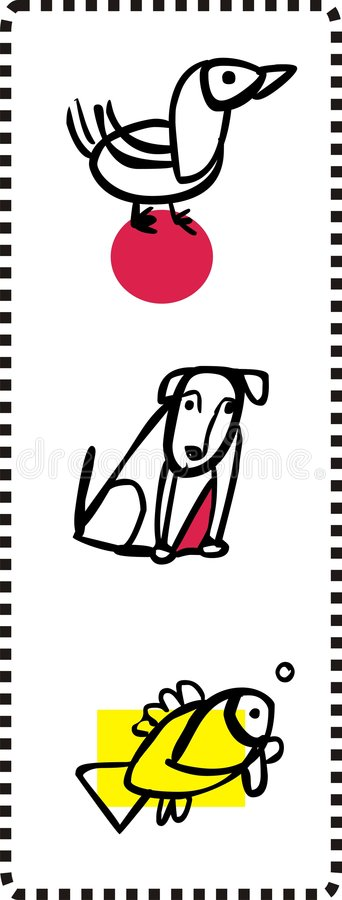 Download Simple Animal Illustrations Stock Photography - Image: 8788202