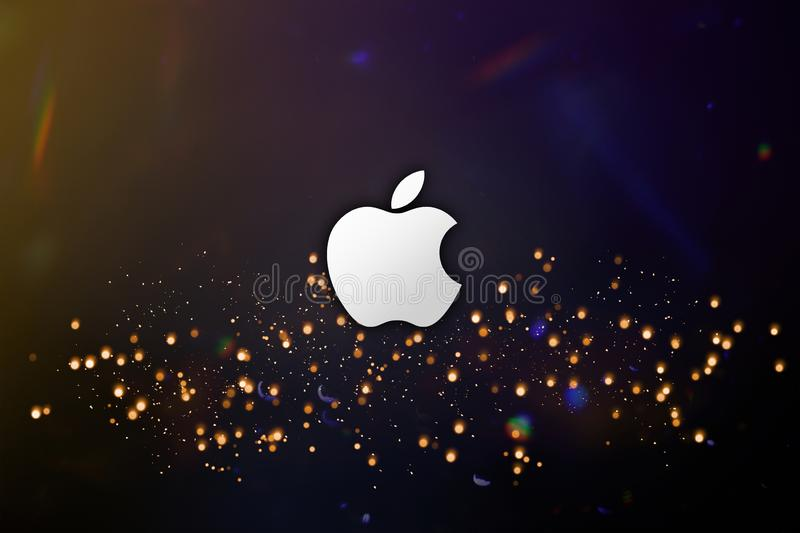 Simple Apple brand logo abstract wallpaper background royalty free stock photo