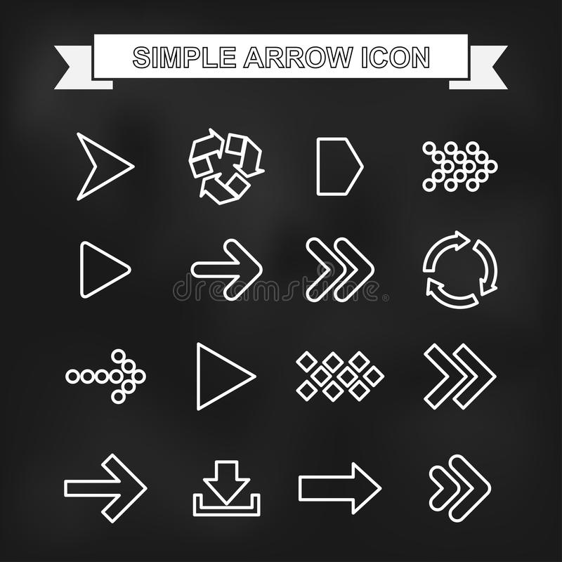 Simple arrow icon with unfocused background. EPS10 royalty free stock photography