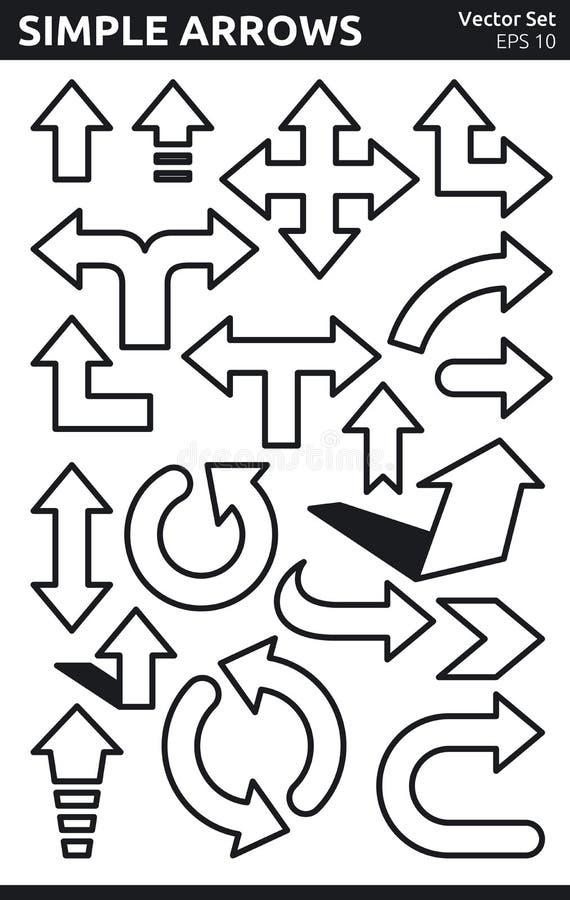 Download Simple Arrows stock vector. Illustration of illustration - 32075972