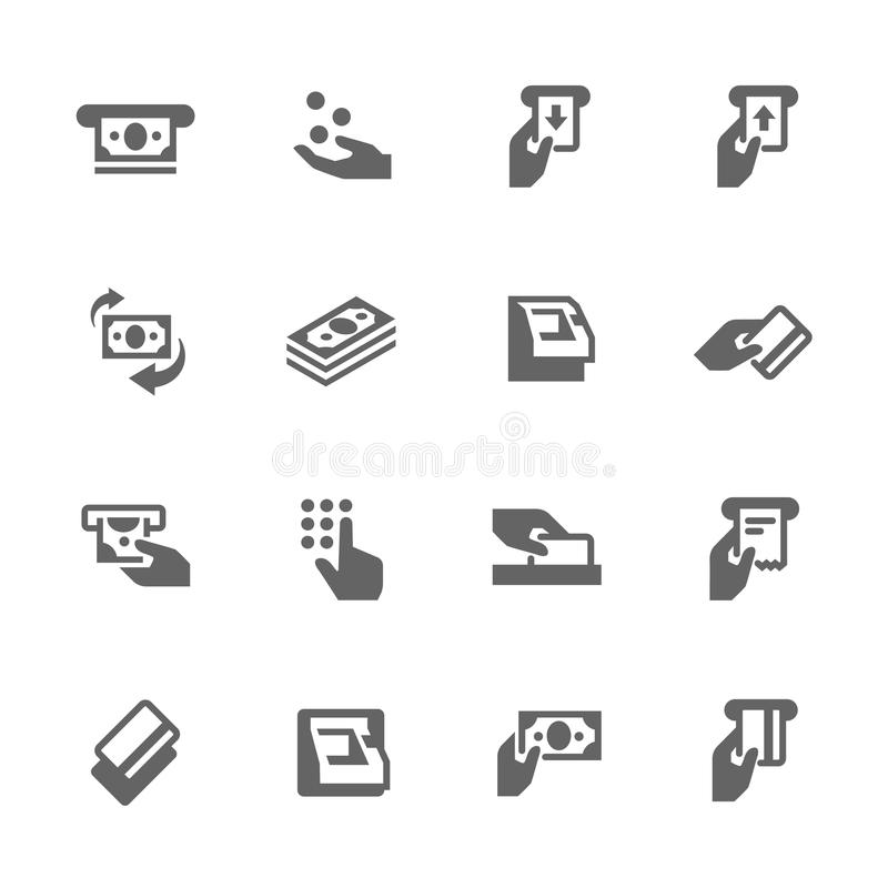 Simple ATM Icons royalty free illustration