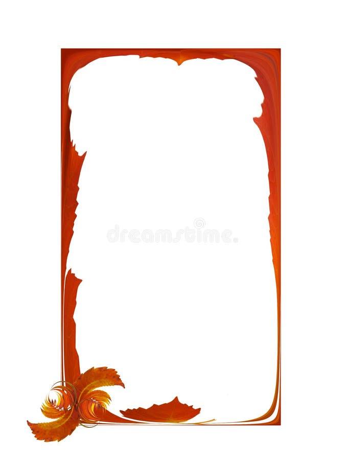 Simple autumn frame royalty free illustration