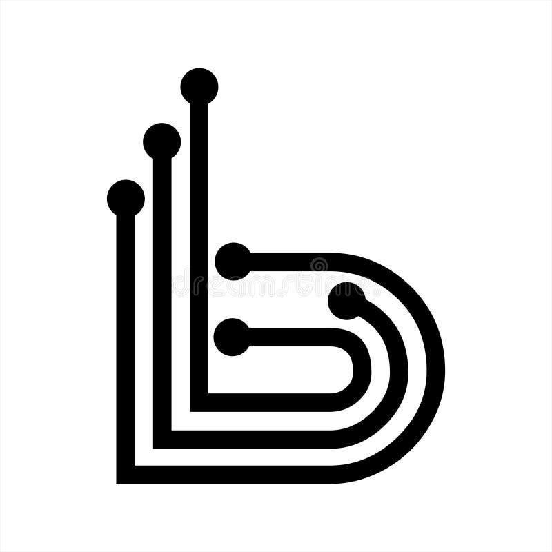 IB, Bi, I3, B Initials Geometric Letter Company Vector