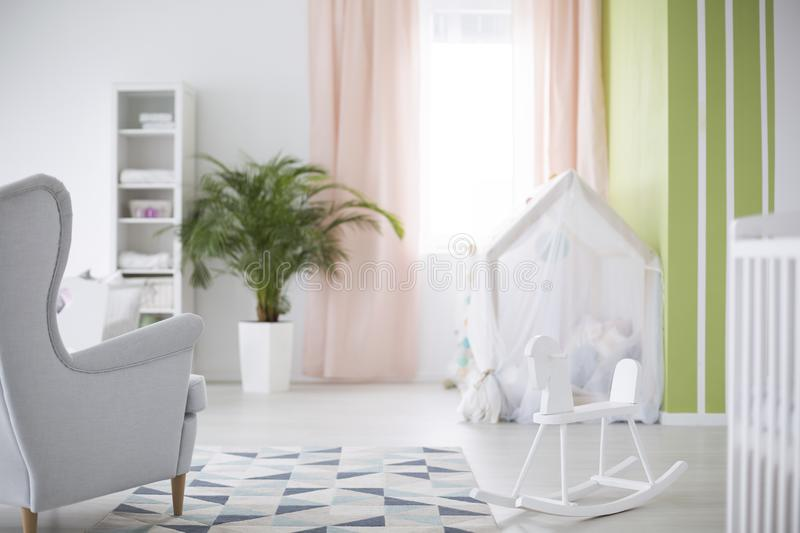 Simple baby room royalty free stock image