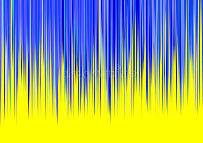 Blue And Yellow Striped Wallpaper: Blue Stripes On Yellow Background Royalty Free Stock
