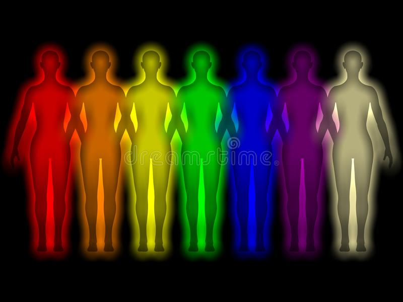 Download Simple Background With Colored Human Energy Body Stock Photos - Image: 16726853