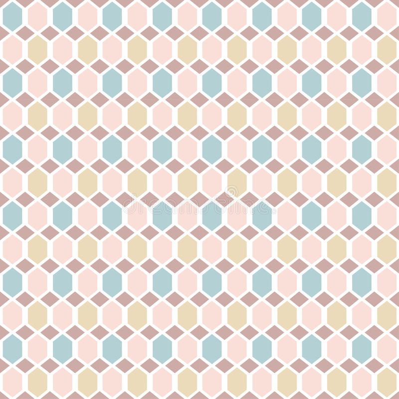 Simple background with rhombs. Endless texture can be used for printing onto fabric, paper or scrap booking, wallpaper, pattern fills, web page background royalty free illustration